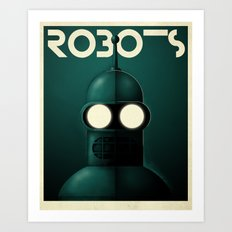 Robots - Bender Art Print