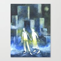 Lost Souls At Moonlight Canvas Print