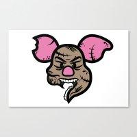 Zombie Piglet Canvas Print