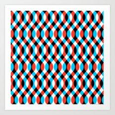 Blue Brain Waves Art Print