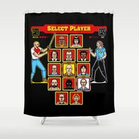 8 Bit Pulp Shower Curtain