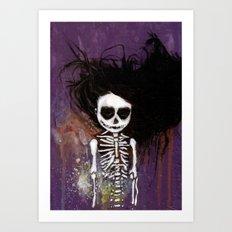 骸骨 壱 Art Print