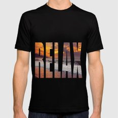 R.E.L.A.X Mens Fitted Tee Black SMALL