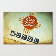 Sun 'n' Sand Motel Route 66 Canvas Print