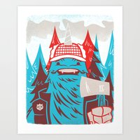 Cornelius : Lumberjack Art Print