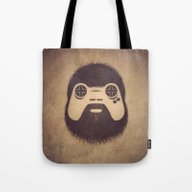 Tote Bag featuring The Gamer by Powerpig