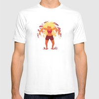 Red Giant Mens Fitted Tee White SMALL