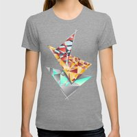 Triangle Rush! Womens Fitted Tee Tri-Grey SMALL