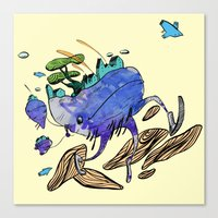 Explore (blue) Canvas Print