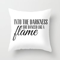 Into The Darkness She Da… Throw Pillow