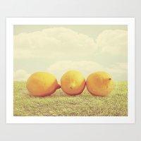 Lemongrass Art Print