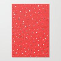 Coral Hearts Canvas Print