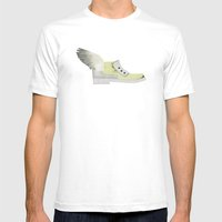 Flying Shoe Mens Fitted Tee White SMALL
