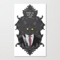 American Psycho Kitty Canvas Print