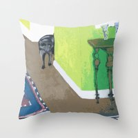 Sprocket Rounding the Corner Throw Pillow