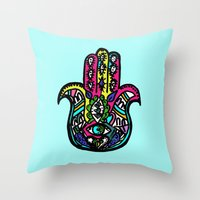 Third Eye Remix Throw Pillow