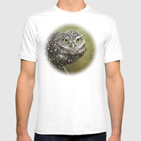 Burrowing Owl  Mens Fitted Tee White SMALL