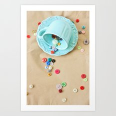 Buttons & Teacups Art Print