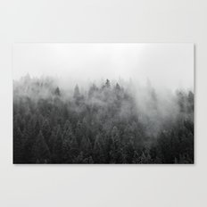 Black and White Mist Canvas Print