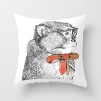 red bow Throw Pillow
