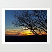 Shenandoah Sunset Art Print