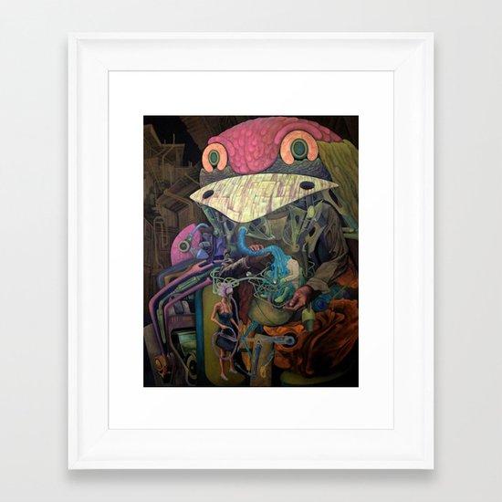 Necropolis Framed Art Print