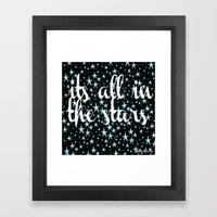 It's All In The Stars Framed Art Print