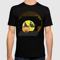 Funny Shocked Pumpkin He… Mens Fitted Tee Black SMALL