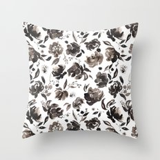 Winter blossom Throw Pillow