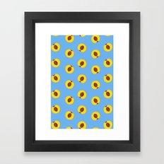 Peach pattern Framed Art Print