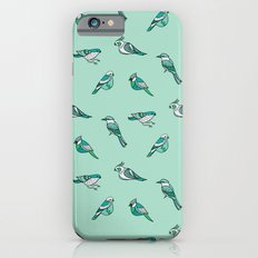 doodle birds - mint Slim Case iPhone 6s