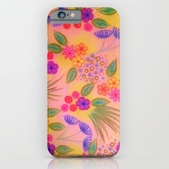 WILDFLOWER FANCY 2 - Cheerful Pink Lovely Floral Garden Pattern Girly Feminine Trendy Flowers iPhone & iPod Case