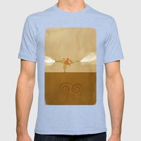 Avatar Aang Mens Fitted Tee Tri-Blue SMALL