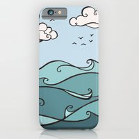 iPhone & iPod Case featuring Clouds and Waves by Stephanie Smith