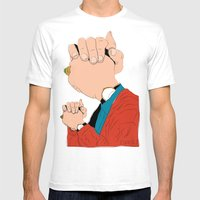 Knuckle Head II - Graham Mens Fitted Tee White SMALL