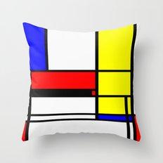 Mondrian Pattern Design Throw Pillow