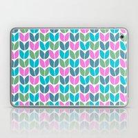 Tulip Knit (Teal Pink Bl… Laptop & iPad Skin