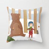 A  BIRD  IN LOVE  Throw Pillow