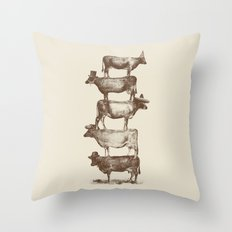 Cow Cow Nuts Throw Pillow