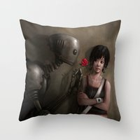 Robot In Love Throw Pillow