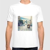 San Francisco Cable Car Mens Fitted Tee White SMALL