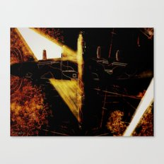 Searchlights over the Ruhr  Canvas Print