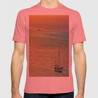 Sailing From the Sunset Mens Fitted Tee Pomegranate SMALL