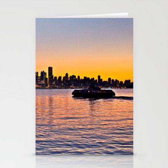 Vancouver Skyline Stationery Card