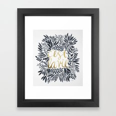 C'est la Vie – Grey & Gold Framed Art Print