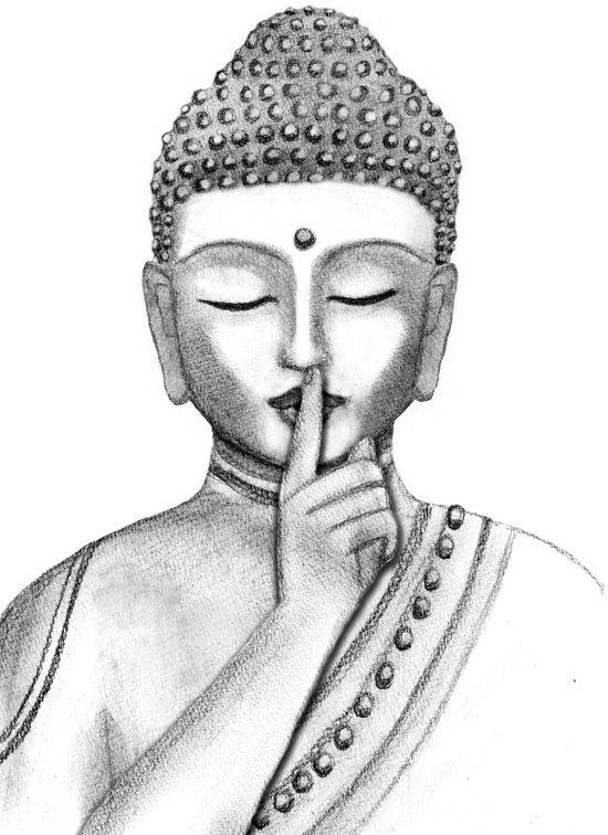 Shh... Do not disturb - Buddha Art Print