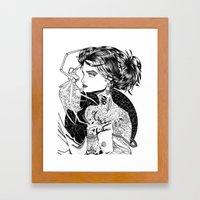 MA ROBE SE DEROBE Framed Art Print