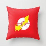 Pika-Flash Throw Pillow