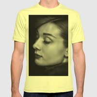 Audrey Mens Fitted Tee Lemon SMALL