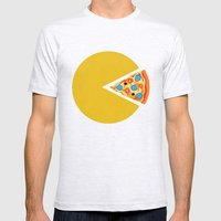 Pizza-Man Mens Fitted Tee Ash Grey SMALL